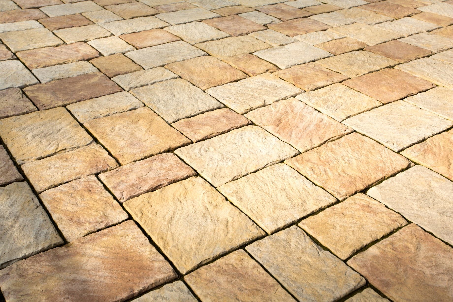 detailed natural stone texture of New Mission pavers