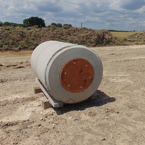 Taxiway base on construction site