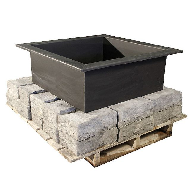 Dimensional Fire Pit Kit Pallet with steel ring