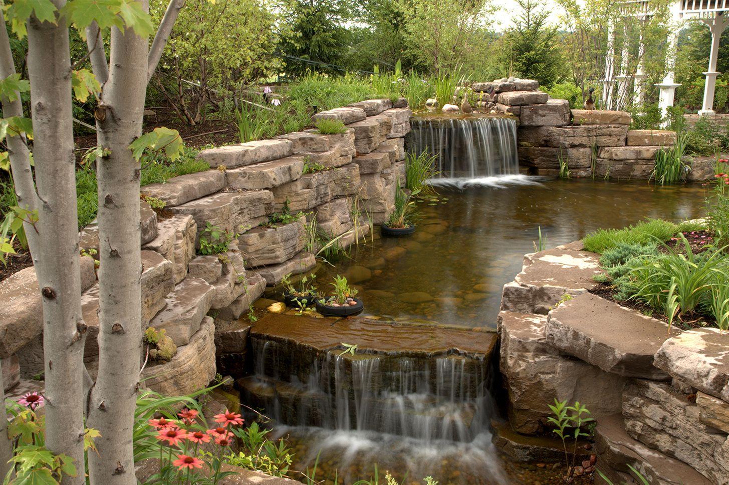 Amazing water features backyard by Rosetta