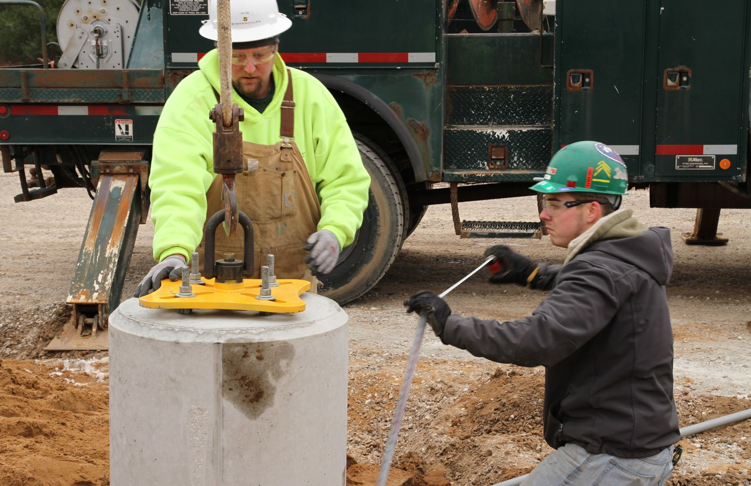 Pole Base installed by contractors