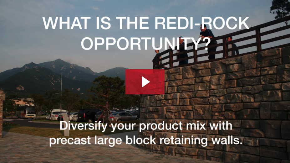 Thumbnail of a video on the Redi-Rock business opportunity.