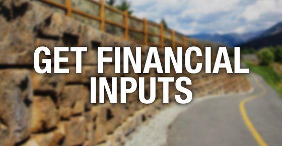Redi-Rock financial inputs