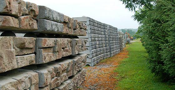 Inventory Redi-Rock blocks