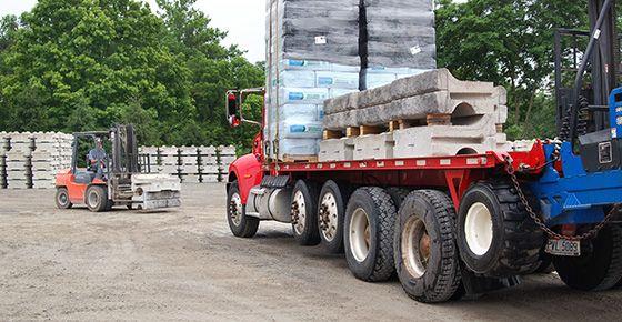 truck hauling Redi-Rock