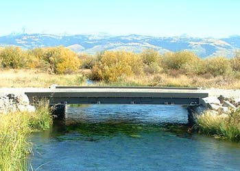 Bridge Designed and Built with Recycled Rail Car