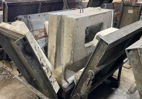 Redi-Rock forms inside a manufacturers facility