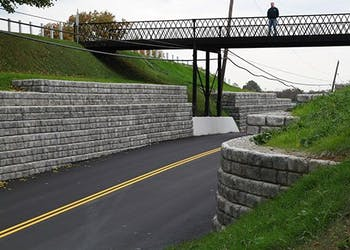 Gravity Wall Stops Cemetery/Road Erosion