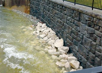 Channel Protects Campus from Erosion