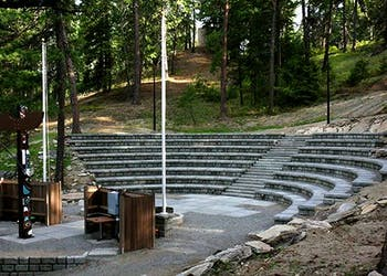 Fire Pit Amphitheater for Scout Camp in Washington