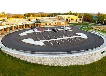 Retaining Walls Bring School New Bus Access