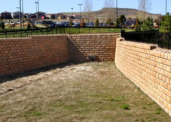 Detention Pond Walls for Hospital Expansion
