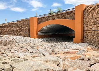 Deer Creek Bridge Uses Redi-Rock for Headwalls and Wingwalls