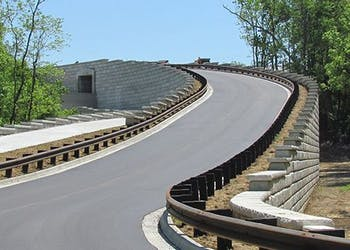 Tall Reinforced Walls For Road Construction