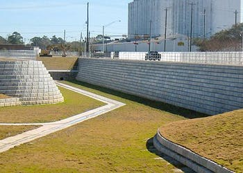 Retaining Walls Solve Detention Basin Challenges