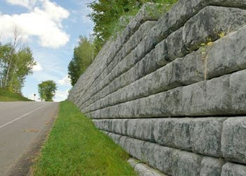 9 Inch Setback Walls for Road Construction