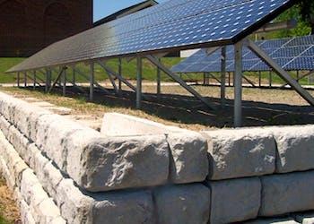 Using Retaining Walls to Protect Solar Panels