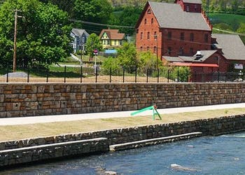 Riverfront Stabilization Wall Helps Redevelop Town