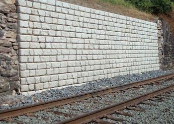 Retaining Walls Protect Rail Tracks From Erosion