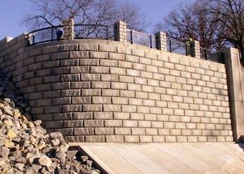 Wing Walls Protect Kansas Dam