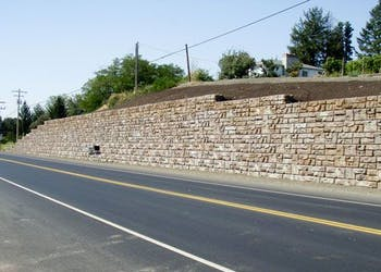 Retaining Walls for Highway Road Construction