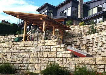 Sea Walls Protect for Oceanside Home