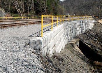 PC System Retaining Walls for Rail Yard Renovation