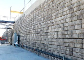 Reinforced Wall for Wine Production Facility