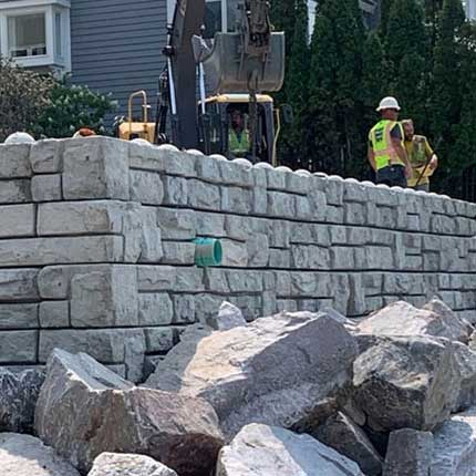 Redi-Rock XL blocks on Lake Michigan