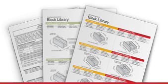 Mockup of Redi-Rock Block Library Pages