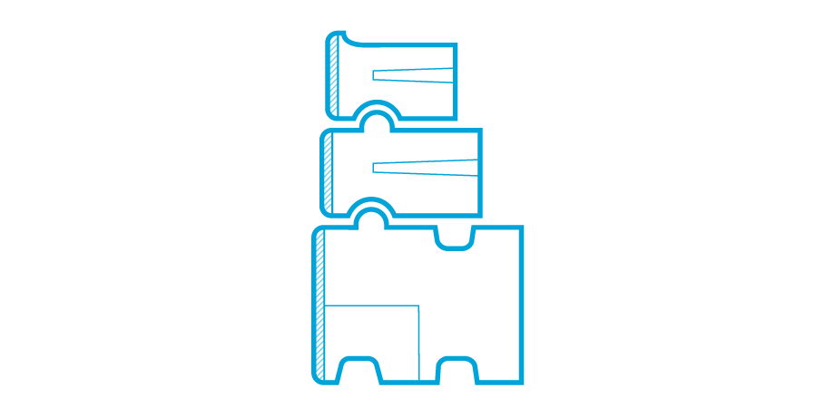 Blue gravity wall icon including XL