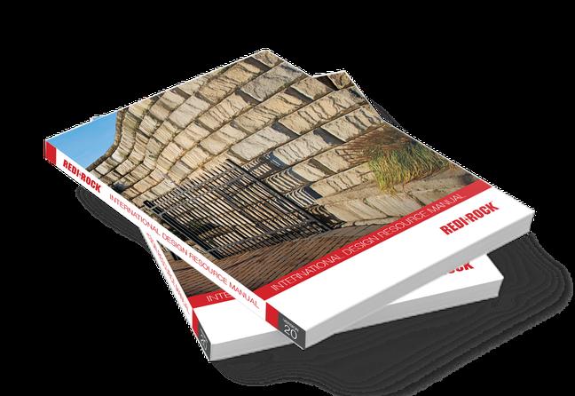 Mock up of international design resource manual