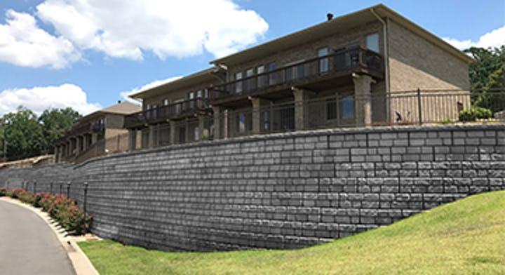 Memosa Point Cobblestone wall