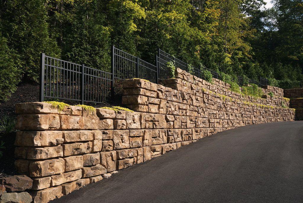 Paxton Precast gravity ledgestone wall in central PA