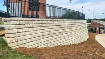 Dudy Noble Field Cobblestone gravity and freestanding wall