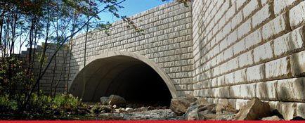 Limestone Retaining wall bridge and culvert