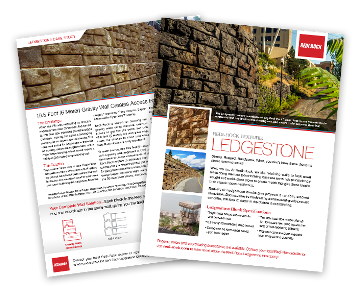 Mock-up of Ledgestone Info Sheet