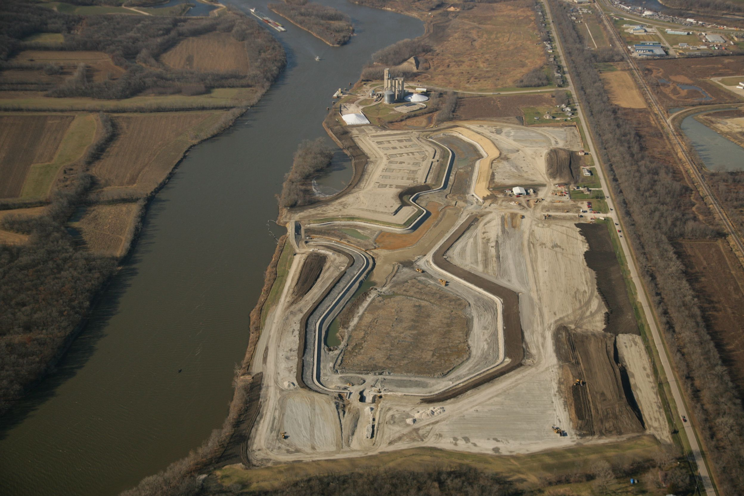 Aerial view of Heritage Harbor project