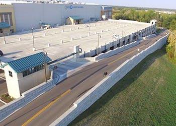 Liberty Center Uses Retaining Walls in Development