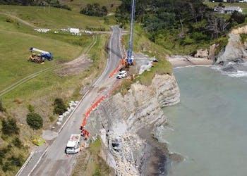 Anchor Wall Saves New Zealand Coast Roadway