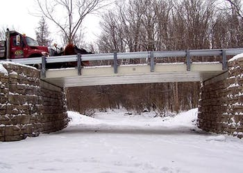 Gravity Abutments Go Up Quick on Ohio Road
