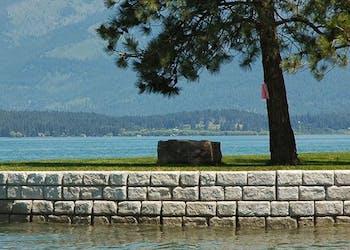 Shoreline Protection Wall Slows Waves