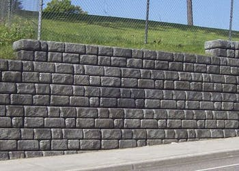Cobblestone Masonry Wall Replacement for Roadway