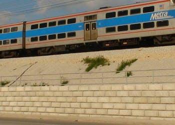 Train Track Reinforcement with Concrete Blocks