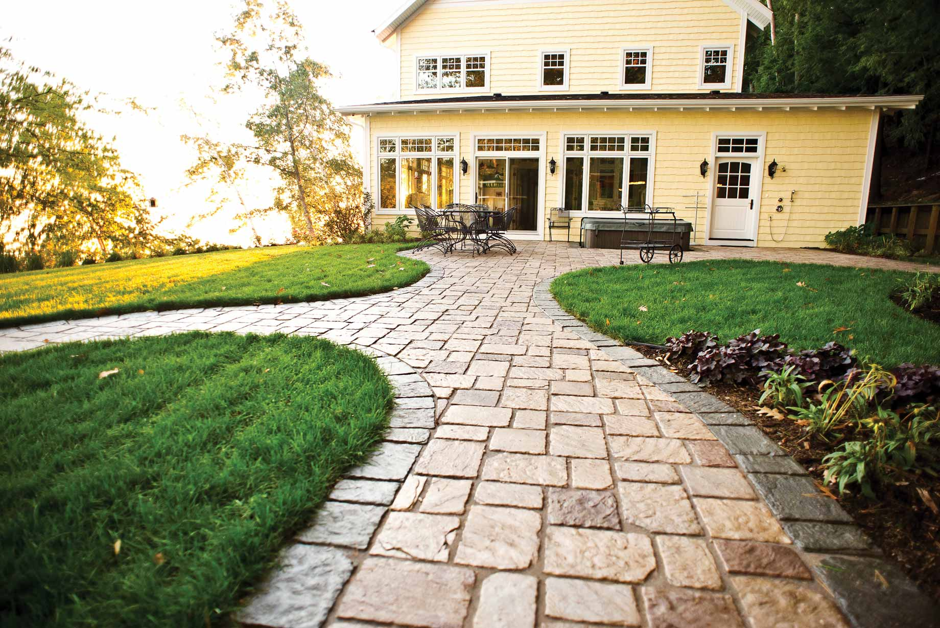 Old Mission pavers on residential home