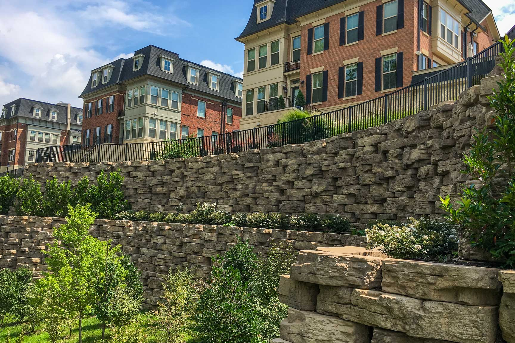 Commercial landscaping with Rosetta Hardscapes